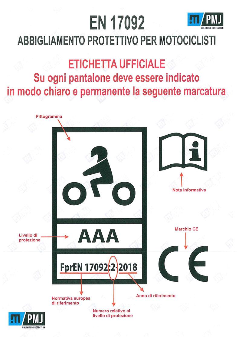 normativa europea motociclisti abbigliamento